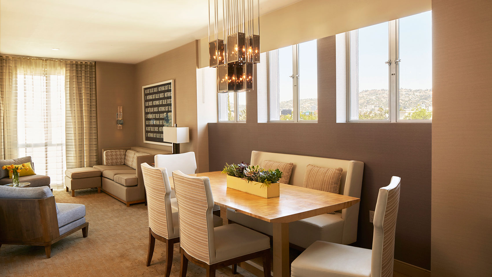 Kimpton Hotel Wilshire suites with dining room