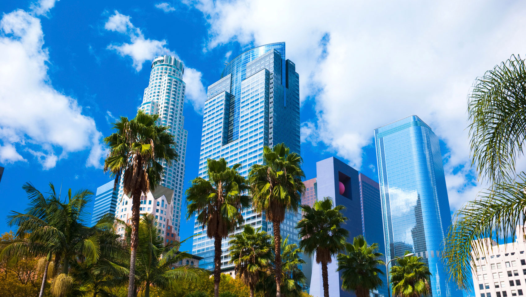 Downtown los angeles sky rise buildings